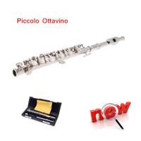 Wholesale Exquisite Ottavino Shine Silver C Tone Metal Head Piccolo with Precise Keys Piccolo Flute Top Quality