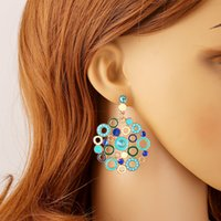 Cheap High Quality Drop Earrings For Women Girls 2015 European Style Hoop Earrings With Alloy 2 Pairs A Lot Costume Jewelry Stores Gifts For Her