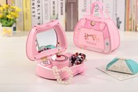 Wholesale Fashion Mini Music Box Rotating Ballet Girl for Doll House Accessories Lovely Music Box Furniture for Dolls
