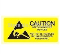 Wholesale LN B ESD Caution adhesive warning labels CAUTION