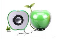 Wholesale Apple shped USB powered Multimedia speakers For PC laptop MP3 Phones