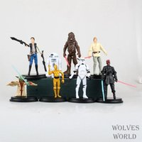 Wholesale Star Wars set Yoda The Black Knight Clone Trooper PVC Action Figures Toy CM Anime Dolls Gift For Kids Collection Toy Set Present