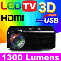 3d projector - 2015 New lumen Cheap HD TV home cinema Portable Projector HDMI LCD LED Game PC Digital Mini Projectors P Proyector D Beamer ATCO