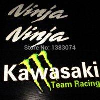 Wholesale 3packs cm sticker for kawasaki ninja decal for kawasaki Z1000 team racing sticker samsung sticker kit