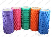 Wholesale 33x14cm EVA Yoga Gym Pilates Fitness Exercise Foam Roller Massage Training Trigger Point