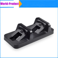 Wholesale PS4 Game wireless Controller Black Charger for dualshock handle Wireless Dual USB Charging Dock Station Stand for playstation