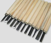 Cheap 12PC Wood Handle Carving Chisels Tool Kit DIY Modeling Seal Sculpt Handy Tools Set