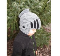 Wholesale New Roman Knight Helmet Caps Novelty Cool Handmade Knit Ski Warm Winter Hats Boys and Girls Gift Funny Party Mask Octopus Beanies