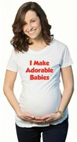 Wholesale K18 Maternity Shirt With I Make Adorable Babies Plus Size Breastfeeding White Tops Cute Pregnancy T Shirt For Women