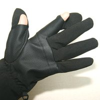 Wholesale Freeshipping Professional photography gloves SLR camera outdoor waterproof gloves cold slip gloves