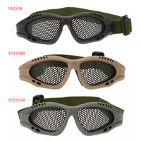 airsoft mesh glasses - Adjustable Belt Goggles Lightweight Anti fog Shock Resistant Eye Protection Metal Mesh Glasses for Airsoft Games Sports Y0213