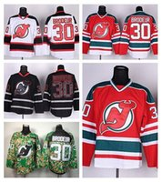 bes cottons - 2016 New Cheap New Jersey Devils Jerseys Ice Hockey Martin Brodeur Jersey Men s Red Black Ice Camo White Third Team Color Bes
