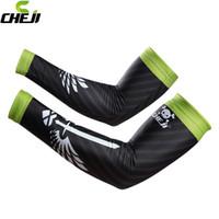 2016 CHEJI nueva llegada de los hombres del coche de la bicicleta de ciclo del brazo calentadores Negro Mujeres UV Protección Solar Gear Manga Cuff Covers Lycra Arm Sleeves