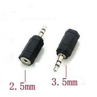 Wholesale 3 mm Male to mm Female to stereo Jack Audio pc phone headphone earphone Converter adapter cable plug