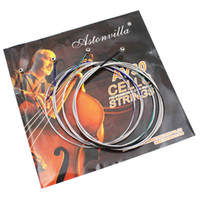 Wholesale Cello String Set C G D A Steel Silver Wound Core Nickel Exquisite Stringed Instrument Parts Accessories