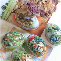 Wholesale 2016 Cute Small Size Multicolor Easter Decoration Cabochons Fashion Easter Eggs Tin Candy Storage pack
