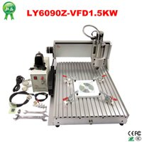 Wholesale Russia free tax axis cnc milling machine cnc router machine with kw spindle for full assembled