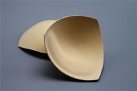 Wholesale Breathable Sponge Triangular Sponge Bra mats Lingerie Breast Pads Underwear inserts Removable Bra Pads