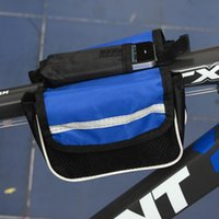 Wholesale Best Price Blue D Polyester Road MTB Bicycle Bike Frame Tube Saddle Bag Pannier Front Tube Bags Double Sides