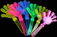 Wholesale 30pcs Flashing led light hand toy luminous party supplies hand clapping prop fake palm bar supplies Necklace as gift