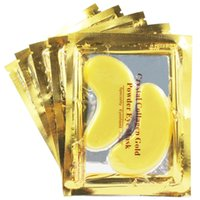 collagen mask - 50 Pairs Crystal Collagen Gold Powder Eye mask Speciality Eyeshield Angell