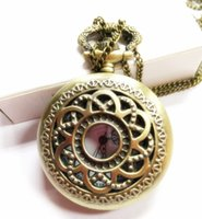 antiques - 50pcs mix style Antique Pocket watch with chain Necklace Classic Pocket Watches