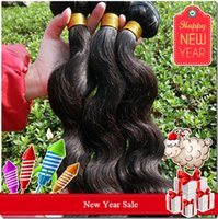 Wholesale 2015 New Year Sale Cheapest Bundles Brazilian Virgin Hair Weave quot quot Unprocessed Natural Black Body Wave Human Hair Weft