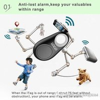 Wholesale Smart Bluetooth bag wallet tracker Tag child security alarm Key Finder GPS locator alarm colors wireless anti lost self timer