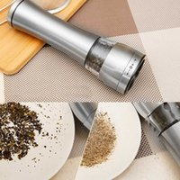 Wholesale Stainless Steel Manual Pepper Salt Spice Mill Grinder Manual Pepper Mill Home Kitchen Cooking Tools