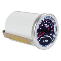 Wholesale 2 quot mm RPM Car Vehicle White LED Universal Tachometer Tacho Gauge Meter RPM CEC_523