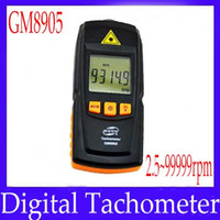 Wholesale Digital tachometer GM8905 digital revolution meter measure range rpm