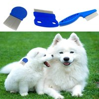 Wholesale Pet Dog Hair Flea Comb Stainless Pin Dog Cat Grooming Brush Comb Clean Tool