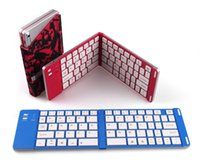 Wholesale Universal Foldable Bluetooth Keyboard Bluetooth slim mini keyboard for Android iOS tablet smartphone