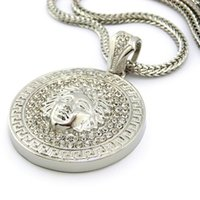 hip hop jewelry - 2015 Hot Hip hop long necklace K gold plated Medusa Avatar High quality crystal jesus piece pendant Fashion Jewelry for women men XQ03