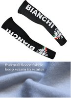 bianchi pro - Winter fleece thermal bianchi black b12 arm warmers Bicycle pro team arm cover sleeve cycling arm sleeve