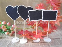 Wholesale NEW wooden Blackboard on Place holder For Wedding Party Decorations chalkboards Message board