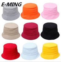 Wholesale 2016 Designer Fashion Cheap Children Plain Custom Summer Fitted Bucket Hat Kids Blank Sun Fishing Hats Popular Girl And Boys Fisherman Cap