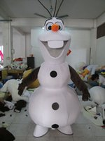 Wholesale 2015hot Smiling Olaf Mascot Costume Cartoon Character Costume