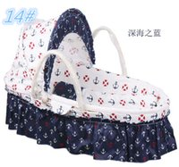 Wholesale Mother Kid Bedding Portable Baby Crib Cotton Twill Fabric Infant Carry Cot Travel Sleeping Basket Mother s Best Helper
