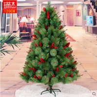 artificial pine tree - 4ft m cm red pinecone mixed pine needle artificial christmas tree ornament decorations home gift new year cristmast34