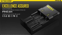Wholesale Genuine Nitecore i2 Universal Charger for Battery E Cigarette Perfect in Muliti Function Intellicharger DHL Free