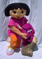 dora mascot - 2016 Fast Brand New Custom made Mascot Costume Dora mascot apparel character Dora Adult Character Costume party Fancy Dress