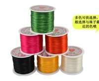 elastic cord jewelry - 60Meter Roll flat Streched Elastic Cord Wire Thread For Bead String Assorted Color Rope Cheap DIY Jewelry Supplies