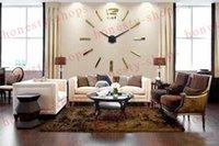 acrylic craft mirrors - Brand New DIY acrylic mirror wall clock daily personal customization living room wall clock craft clock