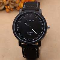 auto sale contract - DHL newest hot sales high quality fashion geneva Contracted dial men leather quartz wristWatch