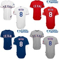 authentic wilson jerseys - 2015 New men Texas Rangers Bobby Wilson Jersey Cool Base Baseball Jersey Authentic Embroidery Stitch Cheap size S XL