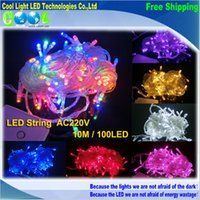 Wholesale Holiday Outdoor LED String Lights M V Christmas Xmas Wedding Party Decorations Garland Lighting