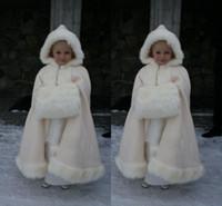 abaya for girls - 2015 Lovely Flower Girls Abaya For Wedding White Floor Length Pearl Cloaks Hooded Floor Length Applique Little Girls Pageant Dresses
