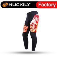Wholesale Nuckily Mens cyclism favourite cycling padded tights Men s breathable and quick dry riding long pant with good quality CK126