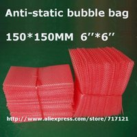 antistatic bubble bags - 500 Red antistatic bubble bags for packing products quot x quot _150 mm